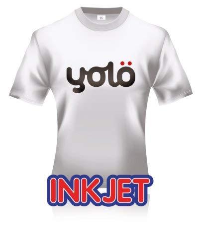 yolö creative 25 x a3 fogli di getto d'inchiostro ferro-on di scambio di calore della carta/t-shirt transfer per tessuti leggeri