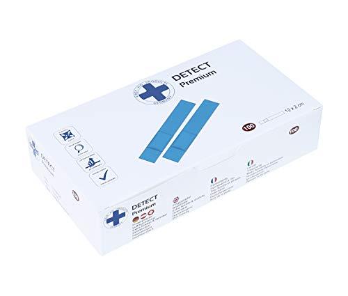 Premium Wundpflaster Detect Pflasterverband verschiedene Sets 50-100 Stück blau Elektromagnetisch detektierbar (620342 Detect blau VE.100Stück 12x2cm)