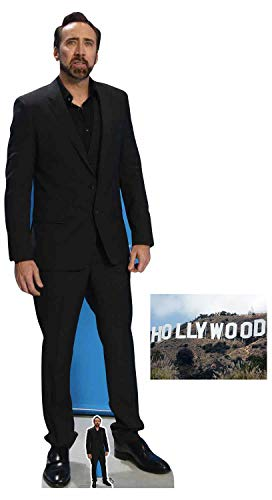 Nicolas Cage Lifesize and Mini Cardboard Cutout Fan Pack, 186cm x 66cm Includes 8x10 Star Photo