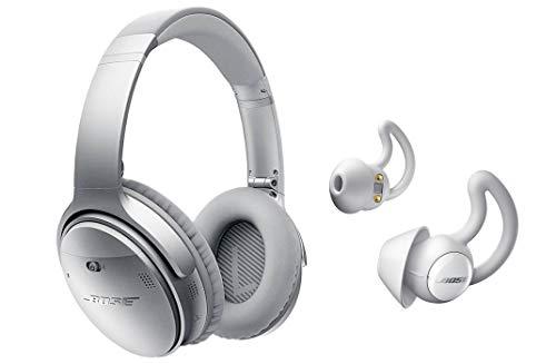 Bose QuietComfort 35 Series II Silver Noise Cancelling Headphones & Bose Noise Masking Sleepbuds Bundle