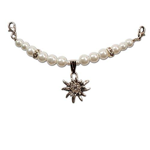 Alpenflüstern Damen Mini-Perlen-Charivari Fiona cremeweiß DCH00500010