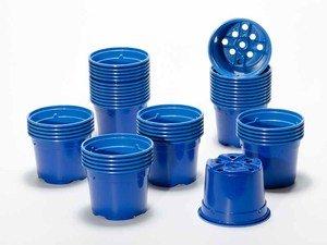 Pot de culture DUO 10.5 cm bleu (x 50)