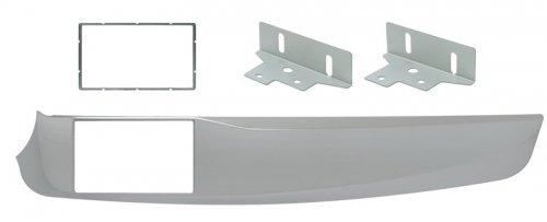 Mascherina Phonocar 2 DIN Colore grigio metallizzato ALFA Giulietta 1014 03643