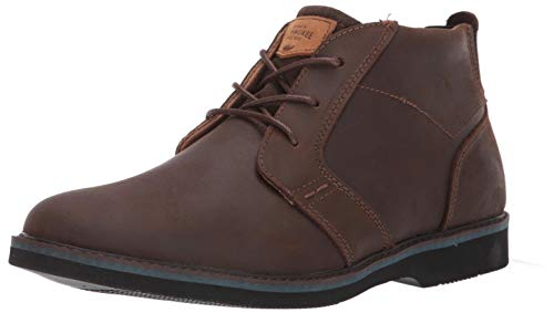 Nunn Bush Men's Barklay Plain Toe Chukka Boot, Brown Crazy Horse, 10.5