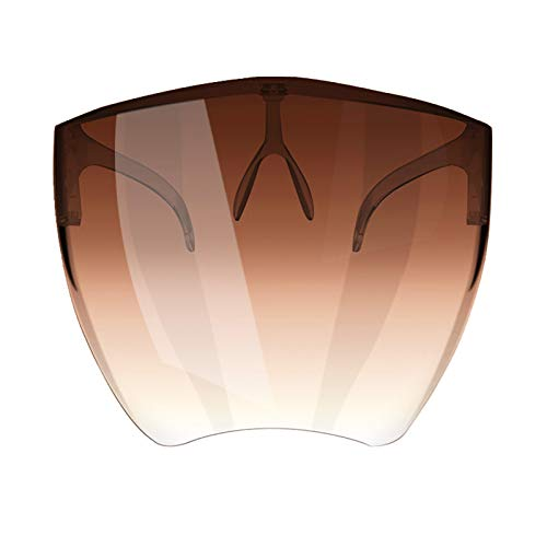 Qiiueen Queen Mouth Guard para Adultos 3D Protege, Colores degradados Transparentes, para Hombres y Mujeres (Brown, 3pc)
