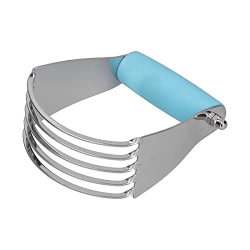 Batidora de masa Batidores manuales de pastelería Mezcladoras de harina Accesorios para engarzadora de pasteles Herramientas para mezclar masa Aparatos de cocina Picadores para hornear(azul)