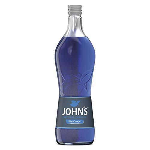 Johns Blue Curacao Sirup für Cocktails 0,7l