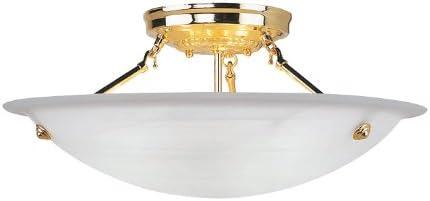 Livex Lighting 4274-02 Flush ファッション通販 お買い得品 Mount with Alabaster White Sh Glass