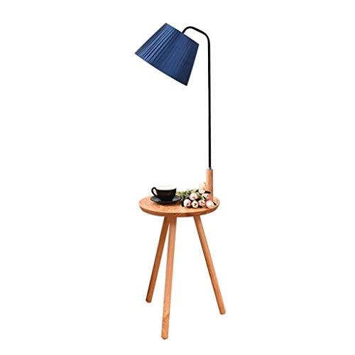 Lámpara de pie de madera para mesa de café, lámpara de pie, sala de estar, dormitorio, estudio, nórdico, vertical, lámpara de mesa de almacenamiento moderno de jardín LD12-31