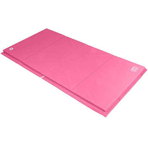 We Sell Mats 4 ft x 8 ft x 2 in Gymnastics Mat, Folding Tumbling Mat, Portable with Hook & Loop...