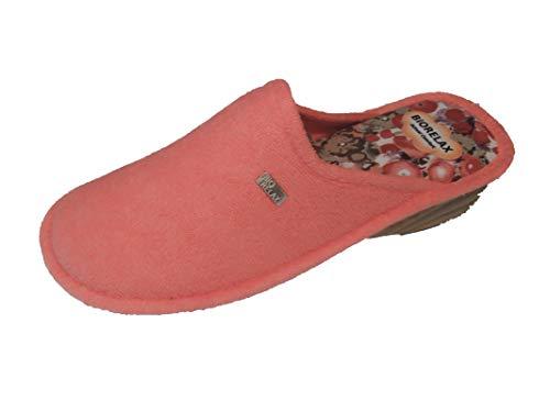 Zapatillas de Estar por casa/De Mujer/Biorelax/Primavera-Verano/Mod. Cuña 3 cms/Color Coral/Talla 40