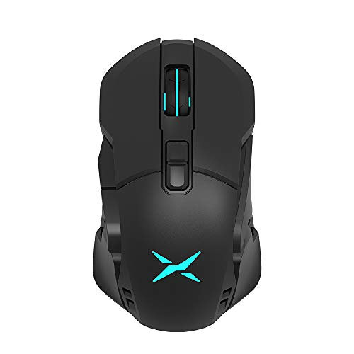 DELUX 89G (3.14oz) RGB Wireless Gaming Mouse with PMW3325 Sensor, 100 to 10000CPI, Personalized Basics, 30Hr Battery, 4 Zone RGB, Ormon Switch, 7 Programmable Buttons (M629DB(Black))
