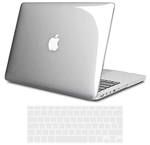 TECOOL MacBook Pro 15 Retina Case Cover, Slim Plastic Hard Shell Protective Case for MacBook Pro 15 inch Retina with Transparent Keyboard Cover(Model: A1398) -Crystal Clear