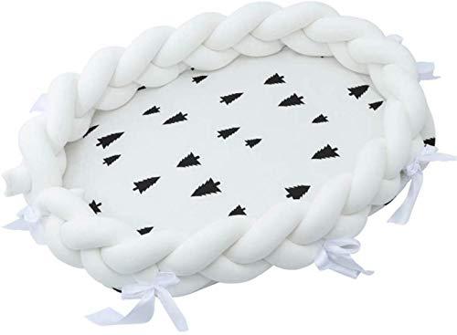 Tour de Lit,Tressé Pare-chocs,coussin de tresse de lit bébé, nid de bébé nid nid de bébé amovible insérer lit 80x50x20cm, C, C
