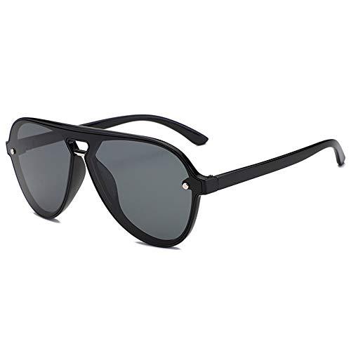 DKee Gafas de Sol UV400 Gafas De Sol Masculinas Negras Gafas De Sol Gafas De Espejo Plano Gafas De Montura Deportes Al Aire Libre