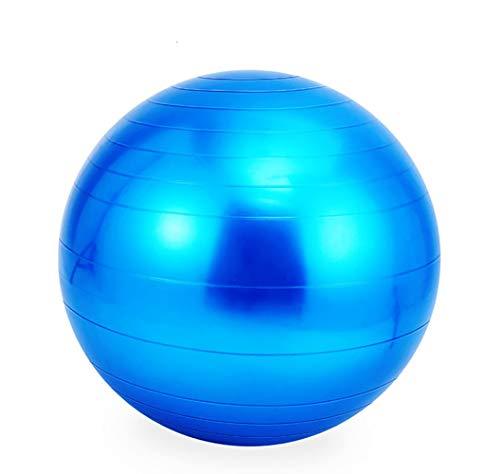 LYzpf Gymnastikball Yoga Ball Trainingsgeräte Fitnessgeräte Hilfsmittel Stuhl Stabilitätsball Portable Balance Ball Fitness Bälle Für Home Office Outdoor,Blue