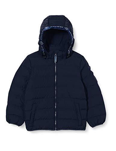 Gant D1. Lock-up Stripe Puffer Jacket Chaqueta, Azul Tarde, 158/164 para Hombre