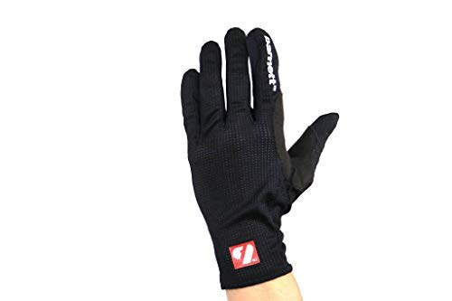 BARNETT NBG-18 RollerSki Handschuhe - Skilanglauf - Rennrad - Laufen - Schwarz (2XL)
