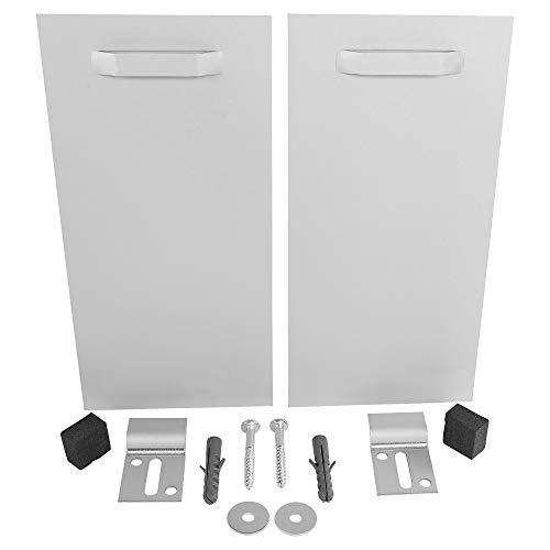 VA Profikit Spiegelaufhänger 2er Set 100x200 Ink Befestigungslaschen+Abstandshalter bis 24kg