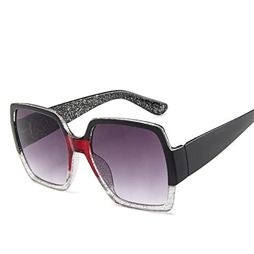 Gafas De Moda Gafas De Sol Gafas De Sol De Gran Tamaño Mujer Clásico Cuadrado Mujer Gafas De Sol Negro Blanco