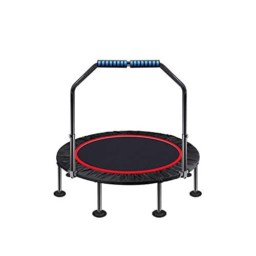 BKWJ Trampolines 39/47 '' Trampolín Plegable de trampolín silencioso con pasamanos para Entrenamiento de Cardio de Entrenamiento en Interiores, límite máximo 200 kg / 440 lbs