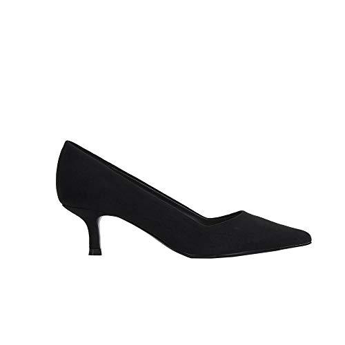 Parfois - Zapatos Tacón Medio Textura Ante - Mujeres
