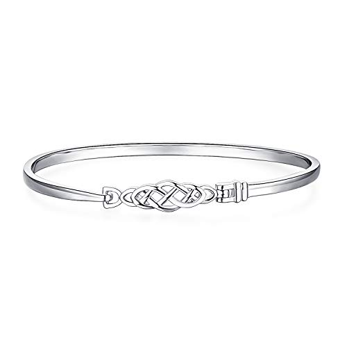 JewelryPalace Celtic knot Open 925 Sterling Silver Bangle Bracelet