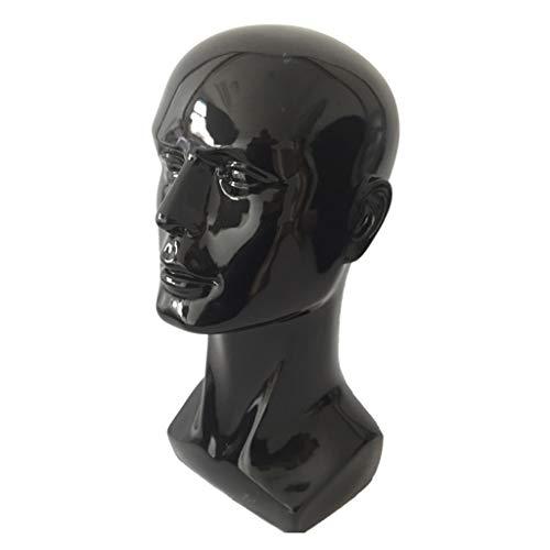 """Soporte de exhibición de la joyería 14.2"""" alto masculina del maniquí Cabeza durable Molde Plástico Head Maniquí Modelo de la cabeza de los vidrios sombrero de la peluca Modelo de pilar izquierdo Sopor"""