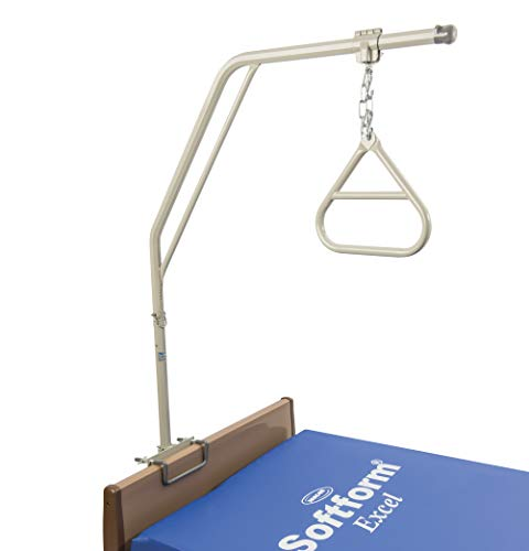Invacare Trapeze Bar with Two-Piece Design Trapeze Bar and Handle, Weight Load Limit 168 lbs, 7740A , Grey