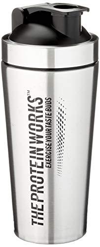 Edelstahl Protein Shaker | Langlebige Wasserflasche, auslaufgeschützt, spülmaschinenfest | THE PROTEIN WORKS, Silber, 700ml