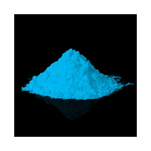 lumentics Premium Leuchtpulver Blau 40g - Im Dunkeln leuchtendes Farbpulver. Nachleuchtend, phosphoreszierend, fluoreszierend und nachleuchtend. UV Pigmente für Leuchtfarbe, Harz, Lack, Epoxy