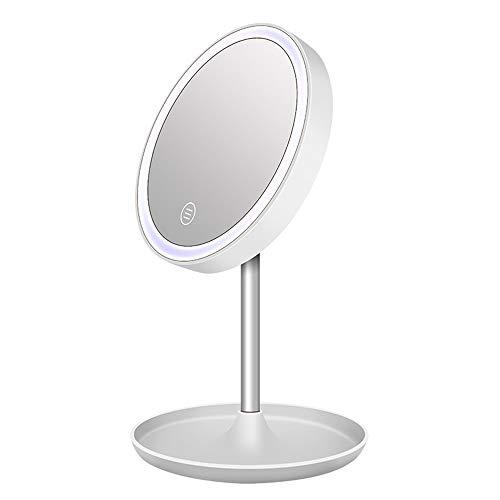 Miroir de Maquillage Lumineux Miroir de Maquillage à LED La Batterie Rechargeable à Gradation à Trois Niveaux Peut être utilisée pour Les Soins de la Peau et Le Maquillage