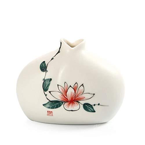 dudifeng Jingdezhen Mini-Blumenvase aus Porzellan, klein, handbemalt, Zen-Ornamente