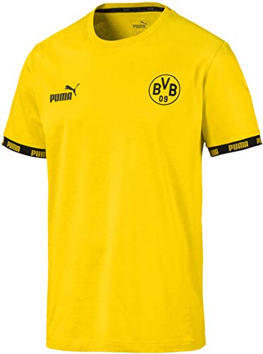 PUMA BVB FTBLCULTURE tee Camiseta, Amarillo – Cyber Yellow, S para Hombre