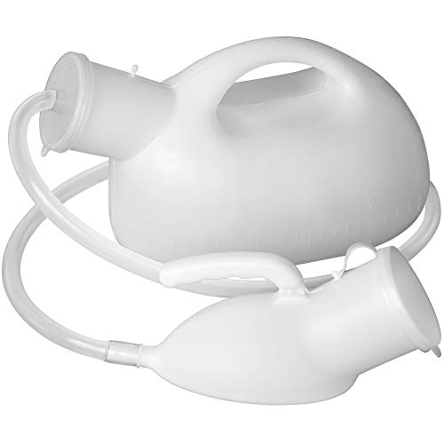 Men's Urinal with Hand-held Portable Urine Cup 2000 ml Large Capacity Male urinals for Old Men,Hospital beds,Wheelchair (White)