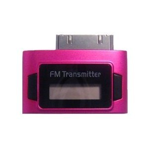 Pink Exeze Pico 5 FM Transmitter for iPhone, iPhone 3G, iPhone 3GS, iPhone 4, iPod Nano 3G, iPod Nano 4G, iPod Nano 5G, iPod Touch, iPod Touch 2G, iPod Classic all models, iPad all models - Ultra Small - No cables or batteries needed by Exeze