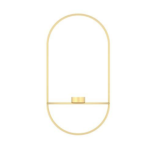 GGreenary Kandelaar Nordic stijl kandelaar van metaal wandkandelaar moderne wandlampjes matching Home ornamenten Elegante huwelijk Kerstdecoratie