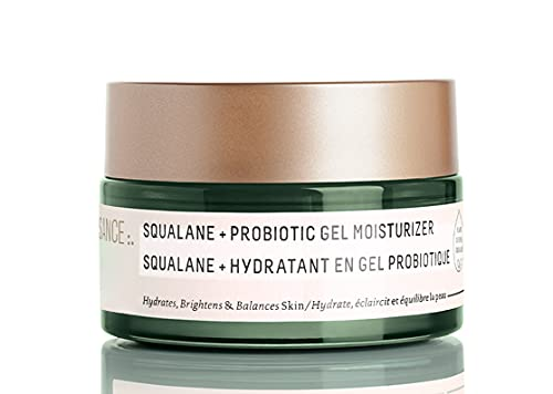 Biossance Squalane + Probiotic Gel Moisturizer - Ultra-Hydrating Moisturizing Gel for Redness-Prone Skin - No Parabens or Synthetic Fragrance (50ml)