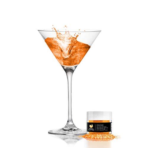 Orange BREW GLITTER Edible Glitter For Drinks