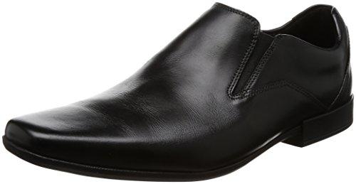 Clarks Herren Glement Slipper, Schwarz (Black Leather), 43 EU