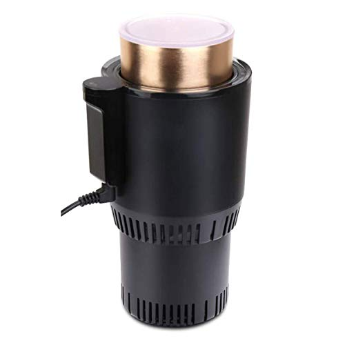 TekkPerry Auto Car Cup Warmer Cooler,Portable Smart 2 in 1 Heating Cooling Cup Can Drinks Holder DC 12V 3A for Water Coffee Milk Beverage for Traveler Road Tripper Outdoors (With Display)
