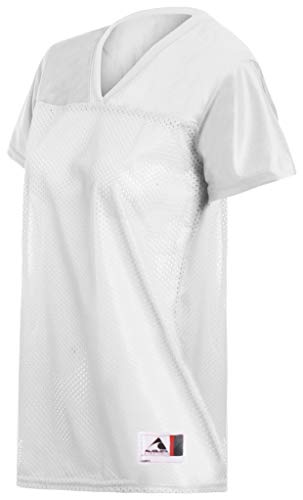 Augusta Ladies Junior Fit Replica Football Jersey, White, XX-Large