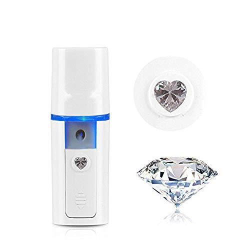 Vaporizador Facial, PJYU Sauna Facial Pulverizador Desinfectante, Mini Vapor Facial Iónico Práctico Nano Difusor Recargable por USB para Piel Facial Refrescante e Hidratante