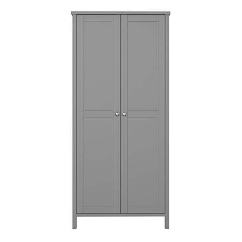 Steens Tromsö Garderobenschrank, MDF grau, schmal