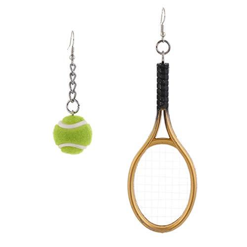 FunPa Boucles d'oreilles Tennis Créatif Irrégulier Boucles d'oreilles De Raquette De Tennis Boucles d'oreilles Pendantes Boucles d'oreilles pour Femmes Hommes