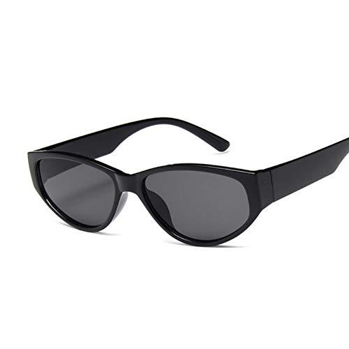 WANGZX Gafas De Sol Retro con Forma De Ojo De Gato Gafas De Sol De Montura Pequeña para Mujer Gafas Ovaladas De Lujo para Mujer Uv400 Blackgray