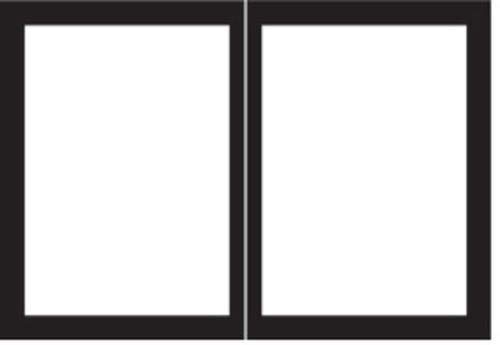 Purchase Empire Comfort Systems Rectangle Door Set for Tahoe Premium 48 Fireplaces - Matte Black