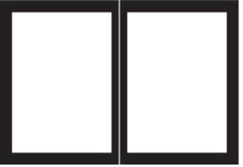 Find Discount Empire Comfort Systems ECS DVDB36CBL Rectangle Door Set - Matte Black