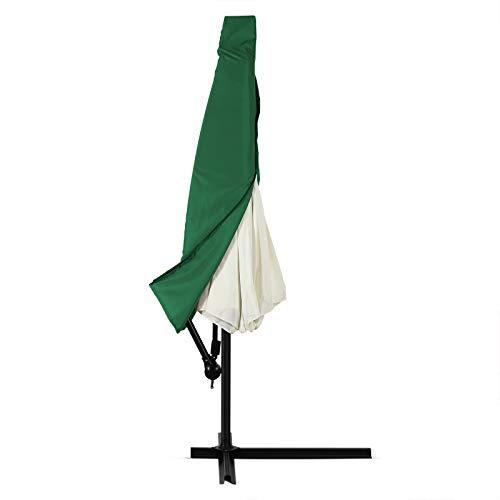 Deuba Schutzhülle Sonnenschirm für 3,5m Schirme Schirm Abdeckhaube Abdeckung Hülle Plane Ampelschirm Grün