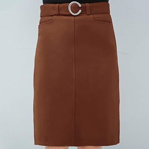 MIBKLPG Falda De Mujer Cintura Alta Femenina Una Línea